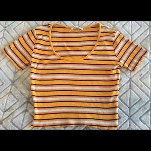 Zara / Multi- Striped Crop Top 🔥